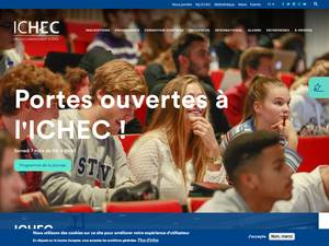 Institut Catholique des Hautes Études Commerciales's Website Screenshot