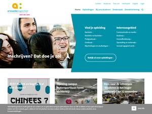 Arteveldehogeschool's Website Screenshot