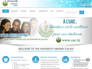 Université d'Abomey-Calavi's Website Screenshot