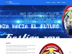 Universidad Nacional de Siglo XX Screenshot