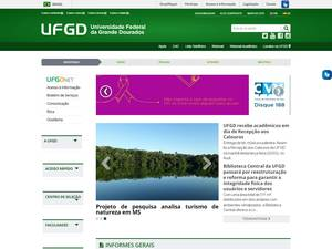 Universidade Federal da Grande Dourados's Website Screenshot
