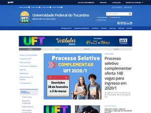 Universidade Federal do Tocantins's Website Screenshot