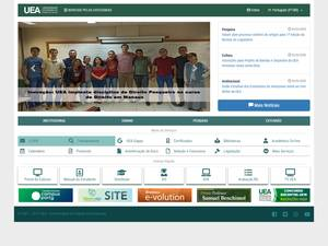 Universidade do Estado do Amazonas's Website Screenshot