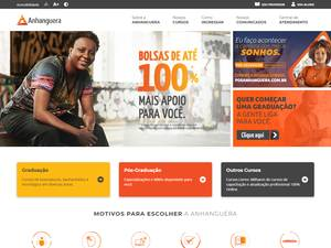 Universidade Anhanguera's Website Screenshot
