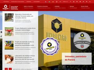 Universidade Estadual do Centro-Oeste's Website Screenshot