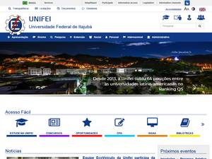 Universidade Federal de Itajubá's Website Screenshot