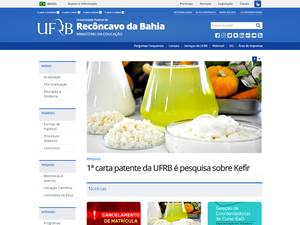 Universidade Federal do Recôncavo da Bahia's Website Screenshot