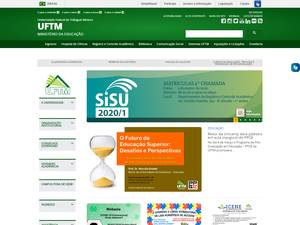 Universidade Federal do Triângulo Mineiro's Website Screenshot