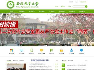 Anhui Agricultural University's Website Screenshot