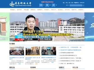 Qingdao University of Science and Technology's Website Screenshot
