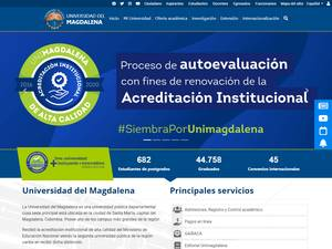 Universidad del Magdalena's Website Screenshot