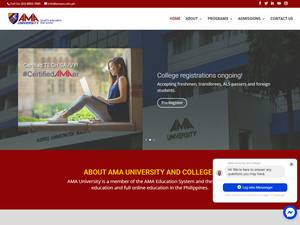 AMA Computer University's Website Screenshot