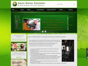 Asian Social Institute's Website Screenshot