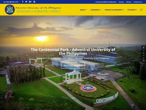 Adventist University of the Philippines's Website Screenshot