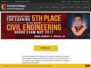 Central Colleges of the Philippines's Website Screenshot