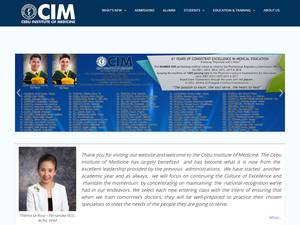 Cebu Institute of Medicine's Website Screenshot