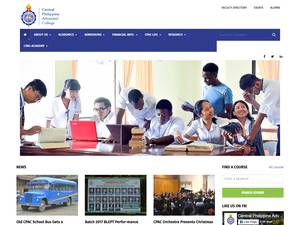 Central Philippine Adventist College's Website Screenshot