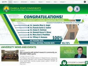 Isabela State University's Website Screenshot