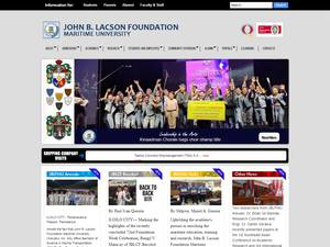 John B. Lacson Foundation Maritime University's Website Screenshot