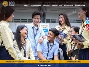 José Rizal University's Website Screenshot
