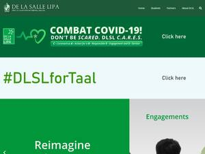 De La Salle Lipa's Website Screenshot