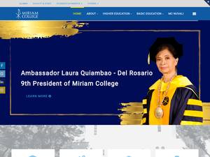 Miriam College's Website Screenshot
