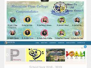 Mountain View College's Website Screenshot
