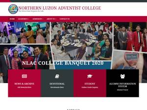 Northern Luzon Adventist College's Website Screenshot