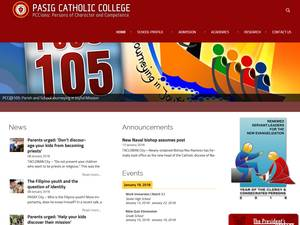 Pasig Catholic College's Website Screenshot