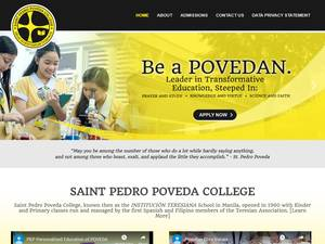 Saint Pedro Poveda College's Website Screenshot
