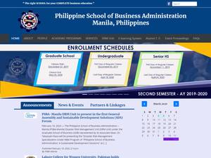 Philippine School of Business Administration's Website Screenshot