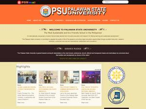 Palawan State University's Website Screenshot