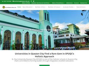 St. Paul University Quezon City's Website Screenshot