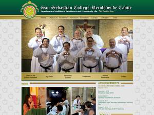 San Sebastian College-Recoletos de Cavite's Website Screenshot