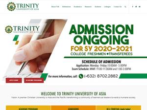 Trinity University of Asia's Website Screenshot