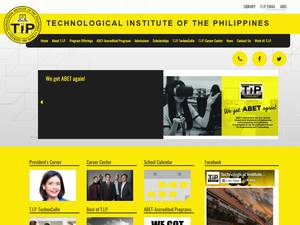 Technological Institute of the Philippines's Website Screenshot
