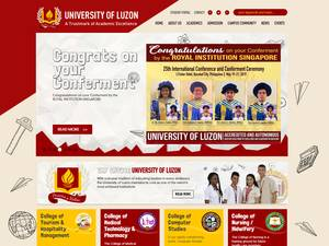 University of Luzon's Website Screenshot