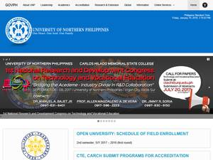 University of Northern Philippines's Website Screenshot