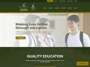 University of Pangasinan's Website Screenshot