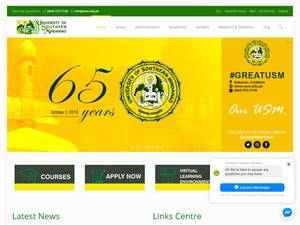 University of Southern Mindanao's Website Screenshot