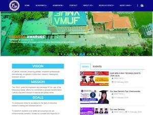 Virgen Milagrosa University Foundation's Website Screenshot
