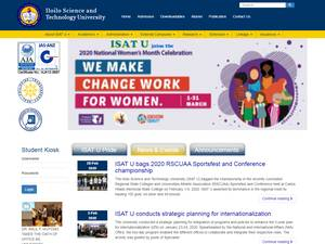 Iloilo Science and Technology University's Website Screenshot