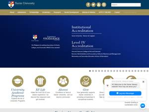 Xavier University-Ateneo de Cagayan Screenshot