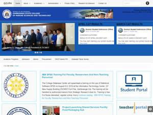 Zamboanga State College of Marine Sciences and Technology's Website Screenshot