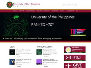 University of the Philippines System Screenshot
