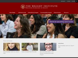The Wright Institute's Website Screenshot