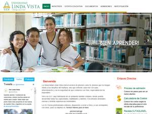 Universidad Linda Vista's Website Screenshot