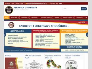 Albanian University's Website Screenshot