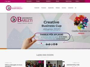 Universiteti Marin Barleti's Website Screenshot