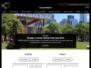 OCAD University's Website Screenshot